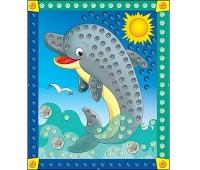 Мозаика из пайеток Дельфин Формат А4